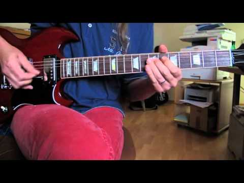 Johnny Winter guitar lesson Rock Me Baby Closeup & slowdown