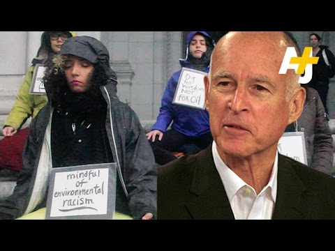Anti-Fracking Activists Call Out Governor Jerry Brown