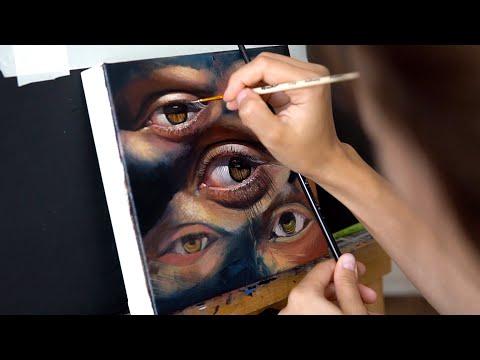 Как рисовала глаза ? Полное объяснение картины. Масляная живопись.