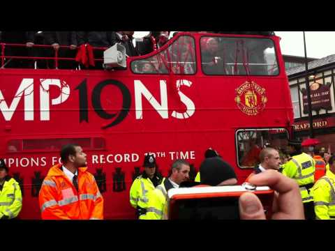 Manchester United outside Sir Matt Busby Way 30th May 2011