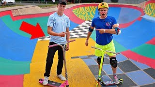 CHALLENGING a RANDOM KID for a GAME OF SCOOT🛴🔥‼️