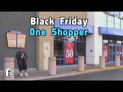 Black Friday - One Shopper Waiting Outside Old Navy - 2015