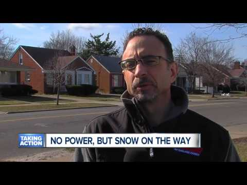 No power, but snow on the way in metro Detroit