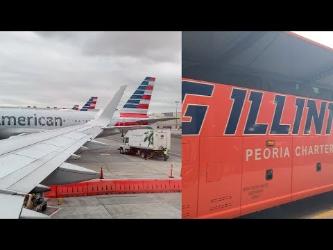American Airlines: LAX To ORD & Peoria Charter: Chicago To Champaign