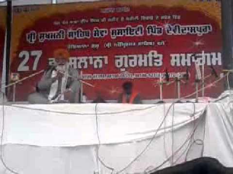 Bhai sohan singh ji at Village Devidaspura...