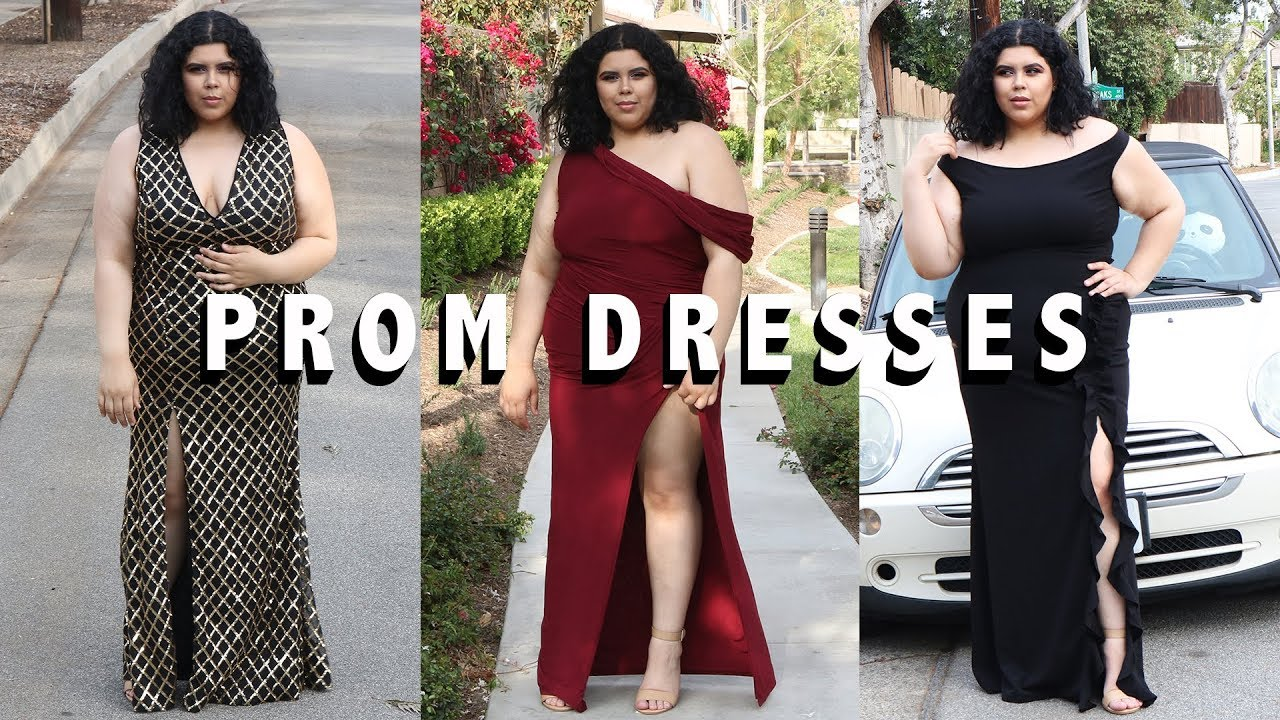 decf49bd89e Trying on Affordable Plus Size Prom  Formal Dresses from Windsor Plus