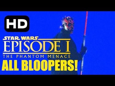Star Wars The Phantom Menace Bloopers COMPLETE COLLECTION!