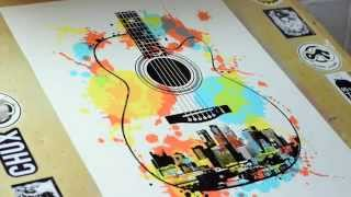 Dogfish Media - MPLS Guitar 4 Color Print