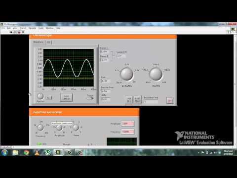 Labview Oscilloscope And Function Generator Youtube