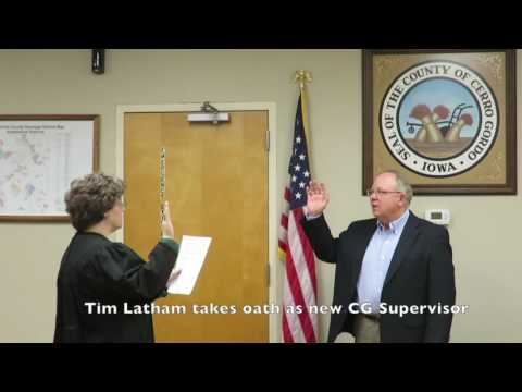 Tim Latham takes oath as new CG Supervisor