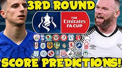 MY FA CUP 3RD ROUND SCORE PREDICTIONS! HOW WILL YOUR TEAM DO THIS WEEKEND?!