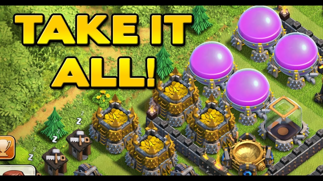 Clash of clans best farming troop combo episode 4 take it all
