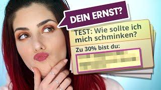 Wenn ein Online Test dir sagt, wie du dich schminken solltest 😂