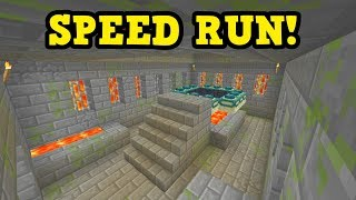 NEW: Race To The End (Minecraft Bedrock SPEED RUN)