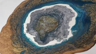 How to paint a Geode using Pebeo' Paints