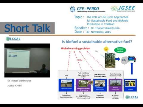 """A short talk on """"Approaches for  Food and Biofuels Production"""" by Dr. Thapat Silalertruksa"""