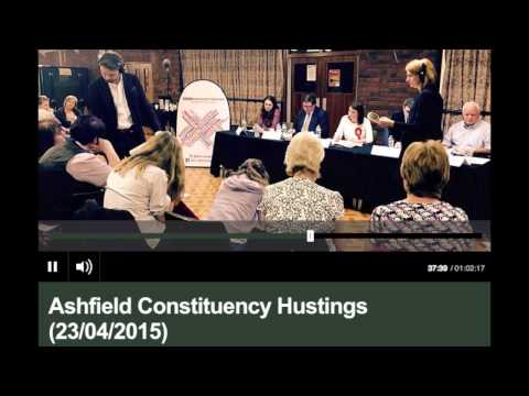 23 April 2015: BBC Radio Nottingham has an all-women audience at their Ashfield hustings