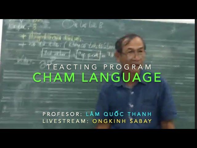 Dạy học tiếng Cham - Bài #08