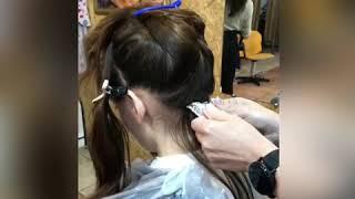 ПРОЦЕСС ОКРАШИВАНИЕ Покрасить волосы Бровары Татьяна Угро салон La Familia Семейная парикмахерская