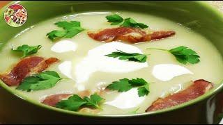Картофельный крем - суп.  Просто, вкусно, недорого.