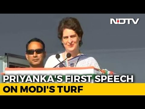 Priyanka Gandhi Addresses First Election Rally After Joining Congress