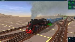 trainz  A New Era-первая обкатка маршрута(макет)