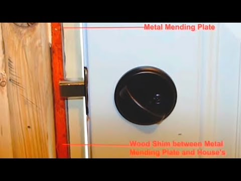 & How to Reinforce an Entry Door for Under $10 - YouTube