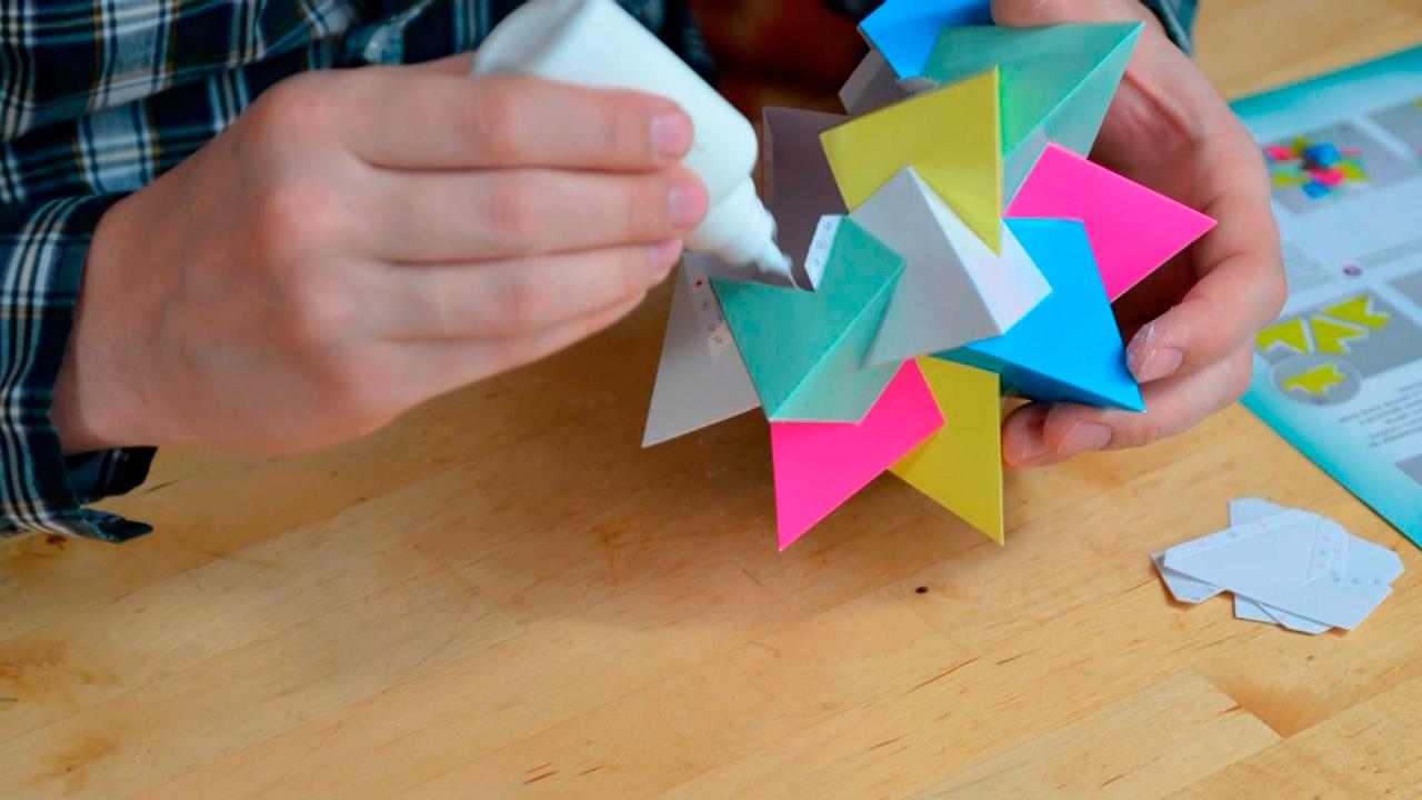 origami - cube décoratif схема