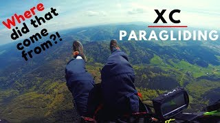 XC Paragliding Flight Attempt | Wing COLLAPSES suddenly!