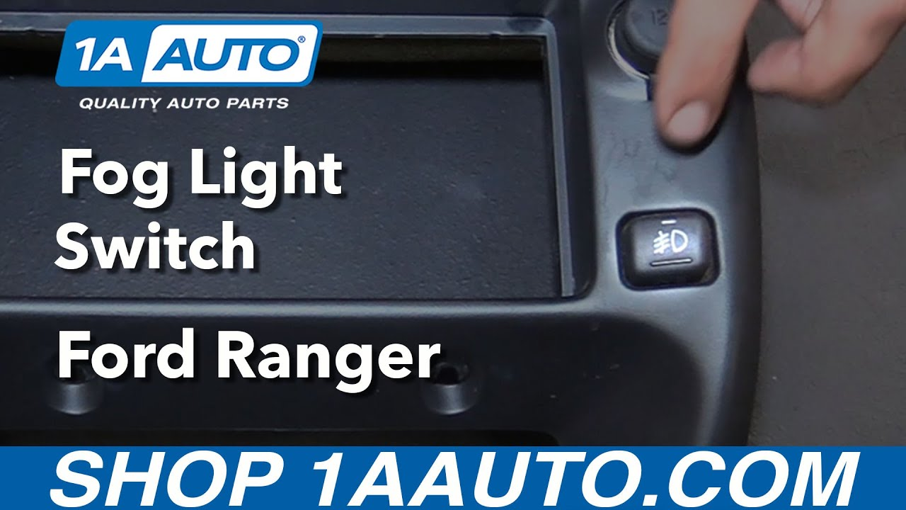 How To Replace Fog Light Switch 98 12 Ford Ranger
