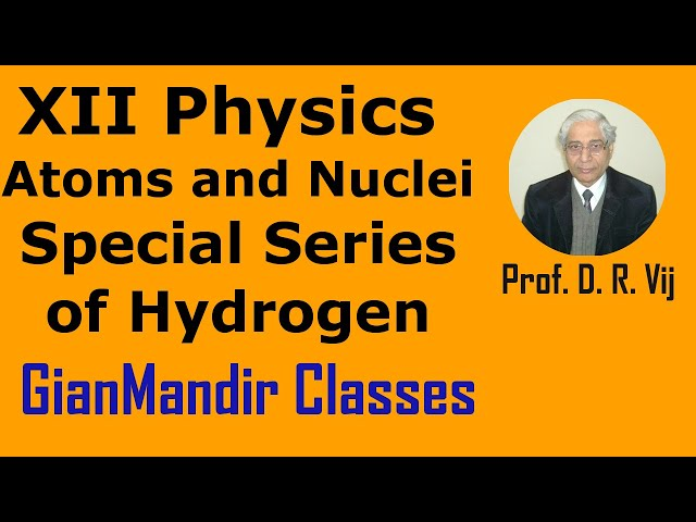 XII Physics | Atoms and Nuclei | Special Series of Hydrogen by Poonam Ma'am