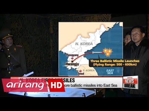N. Korea launches three more ballistic missiles into East Sea