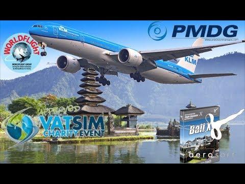 PMDG 777-300ER. Singapore To Bali During WorldFlight 2017