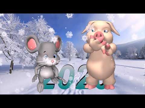 С Новым Годом Крысы! Красивое и прикольное поздравление с новым 2020 годом!