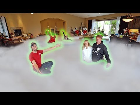 Filled Parents House with DRY ICE Prank! (1000LBS)