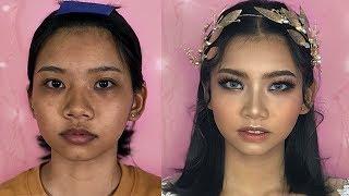 Makeup Tone Tây Cho Cô Dâu Da Ngăm -  Mắt Xa Nhau [Vanmiu Beauty]