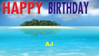 AJ   Card Tarjeta - Happy Birthday