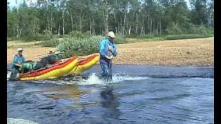 Кольский п-ов, поход по реке Харловка. (ролик №2)