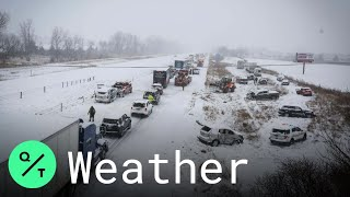 At Least 50 Cars Crash on Interstate 80 in Snowy Iowa Pileup