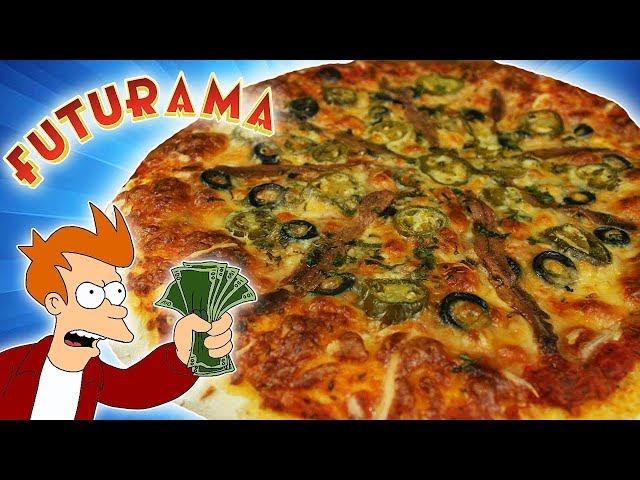 PIZZA de ANCHOAS de FUTURAMA! 🍕Con Masa de PAN!! 🍞 La preferida de FRY!
