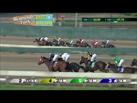 video thumbnail for MONMOUTH PARK 08-21-20 RACE 1