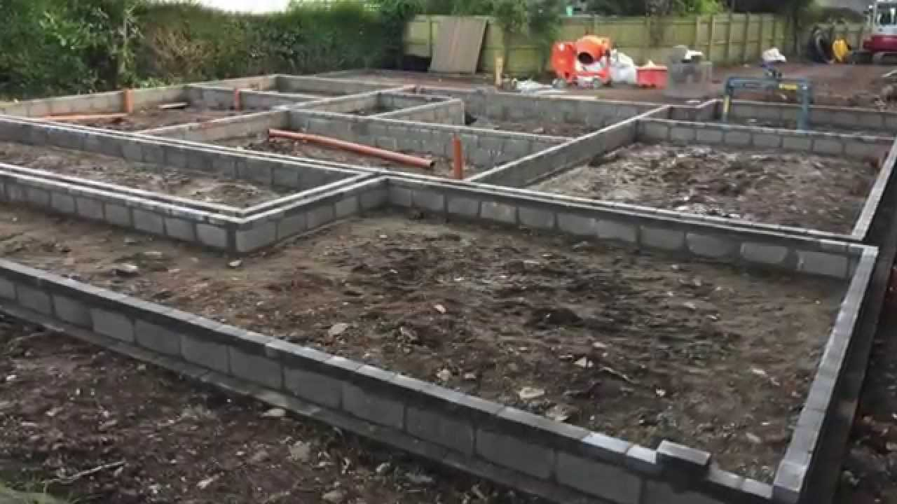 Building a house part 1 self build house construction for How much does it cost to have a foundation poured