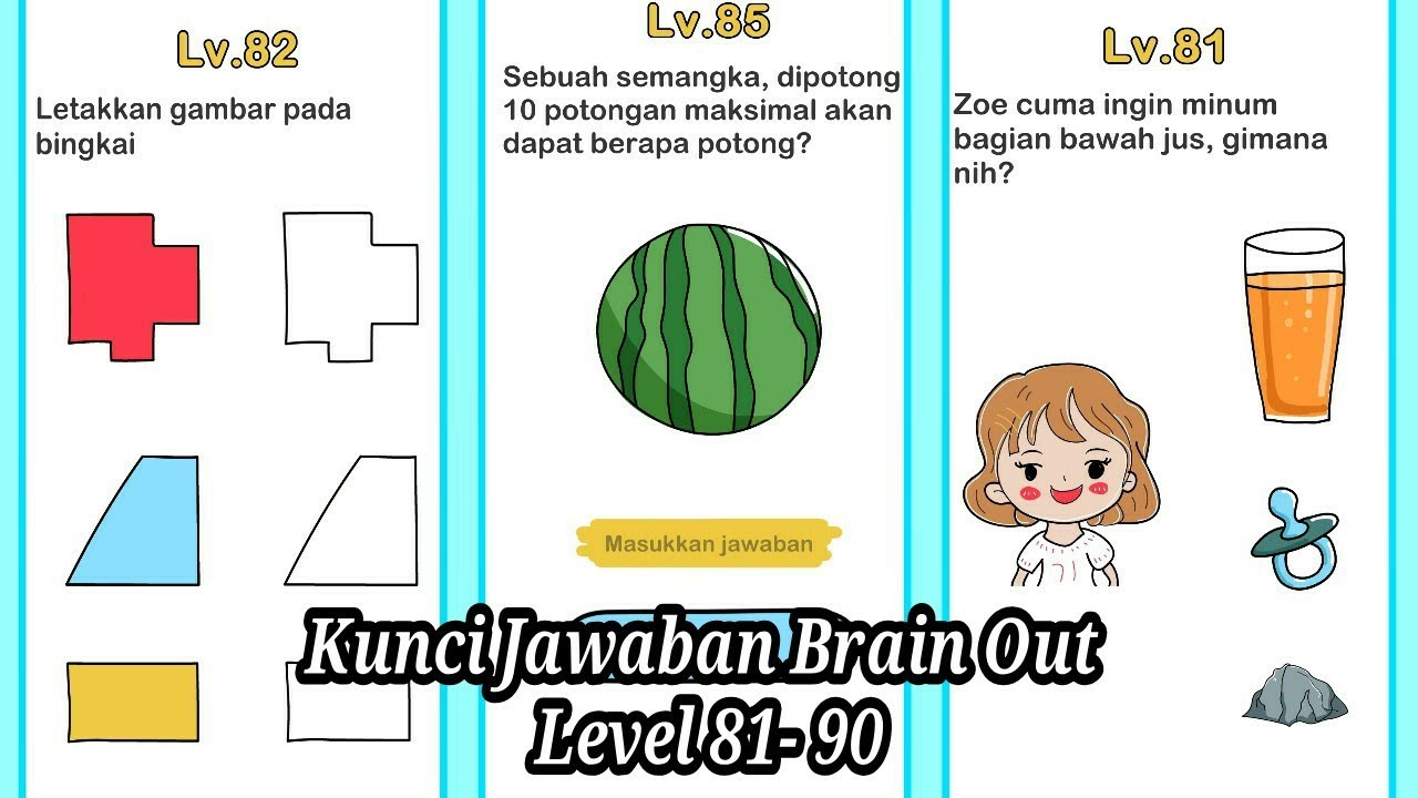 Kunci Jawaban Brain Out Level 81 - 90 - YouTube