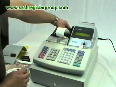 sharp xe a303 cash register installation video youtube. Black Bedroom Furniture Sets. Home Design Ideas