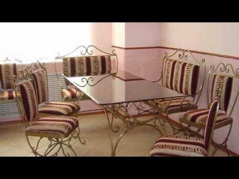Мебель с элементами художественной ковки в интерьере