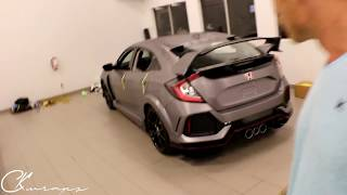 Completed Brushed Steel Vinyl Wrapped 2017 Honda Civic Type R! By @ckwraps
