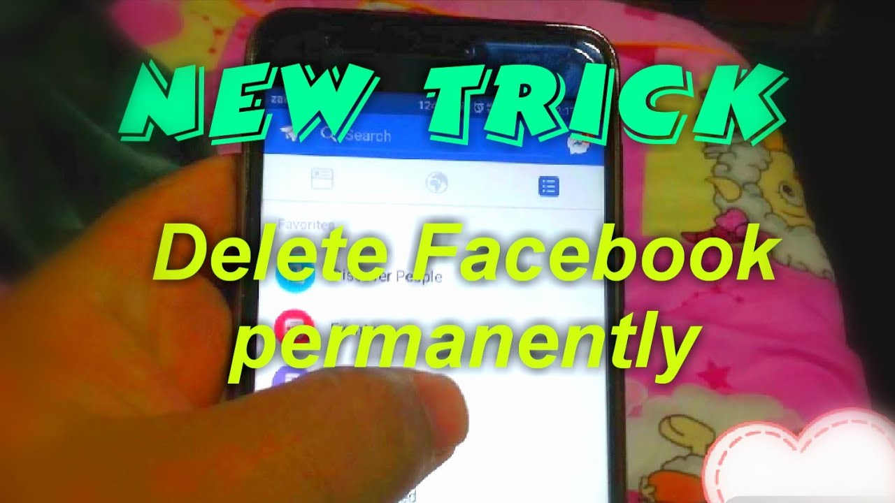 Tutorial,how To Delete Facebook Account Permanently In Android Or Iphone