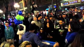 Video Seattle celebrates Seahawks win Super Bowl 48 download MP3, 3GP, MP4, WEBM, AVI, FLV November 2017