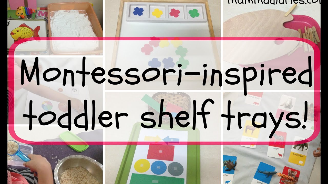Montessori inspired toddler activity trays! - YouTube