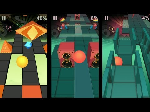 Rolling Sky Raggae Level 19 - Crazy Moves - Avoid Speed Up And Down Challange
